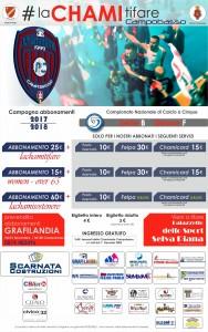 Il manifesto della campagna abbonamenti della Chaminade Campobasso