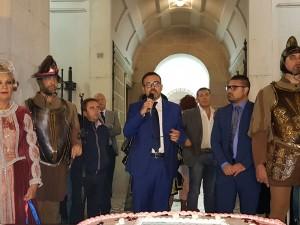 L'assessore Salvatore Colagiovanni durante l'inaugurazione della quarta edizione di 'Vivi la tua Città'