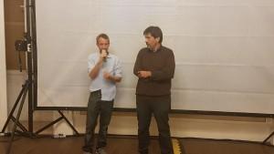 Federico Pommier e il regista Lorenzo Conte