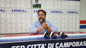 Il direttore sportivo del Campobasso, Luigi Pavarese