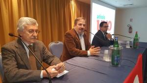 L'ex premier D'Alema, il giornalista Telese e il deputato Leva