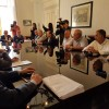 I rappresentanti sindacali presenti all'incontro
