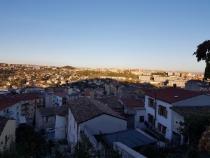 Una veduta di Campobasso dalla via Matris