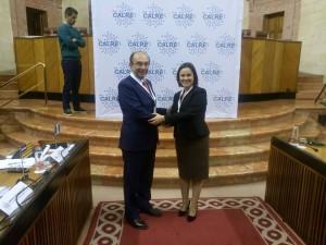 Cotugno con la neopresidente della CALRE, Ana Luisa Luis