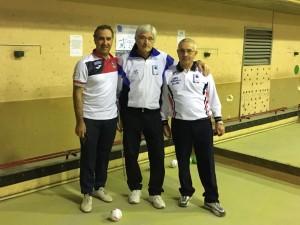 I finalisti Antonio Di Tota e Remo Di Principe con l'arbitro Colavecchia