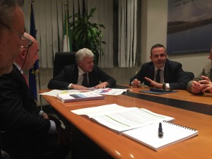 Il governatore Frattura e il ministro Galletti