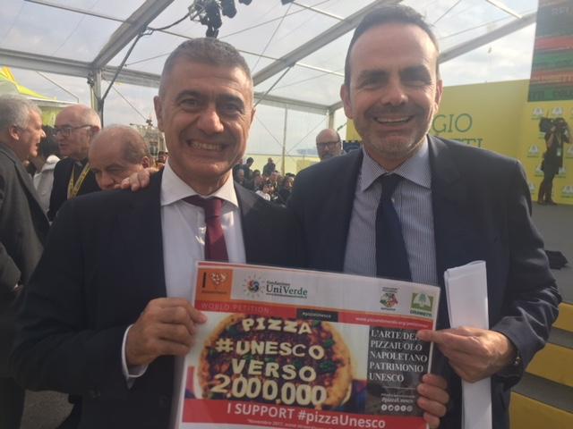 Il governatore Frattura e l'ex ministro Pecoraro Scanio
