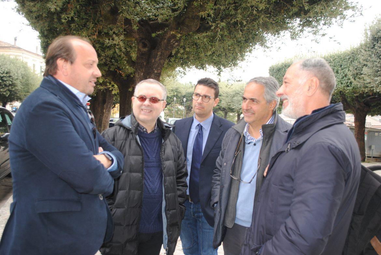 La delegazione dei CNU a Venafro