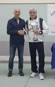 Il presidente de 'La Torre' Vinchiaturo, Mario Perrella, e il vincitore Luigi Colavecchia