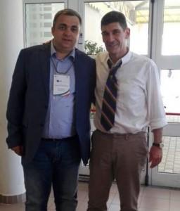 Il presidente della FIB, Marco Giunio De Sanctis, e il presidente regionale Angelo Spina
