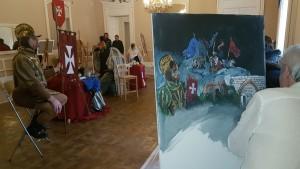 Un momento del concorso di pittura estemporanea al Circolo Sannitico