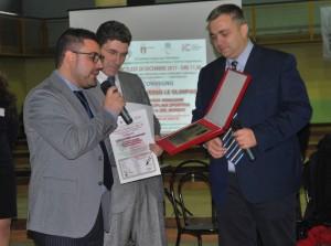Il presidente della FIB, De Sanctis, col numero uno delle bocce molisane, Spina, e il giornalista Formato