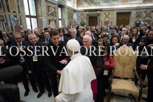 foto papa Frncesco delegati FISC