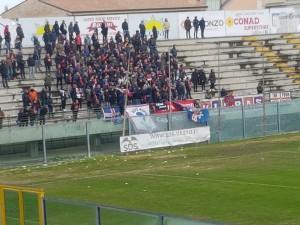 I tifosi del Campobasso all'Aragona di Vasto