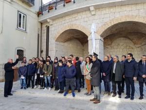 L'inaugurazione del sistema di videosorveglianza a Riccia