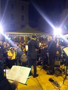 Le Maitunate a Piazzetta Palombo durante la sera del 31 dicembre 2017