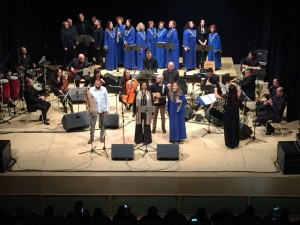 L'orchestra con Di Lecce e Martial