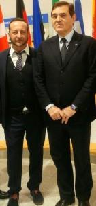 Il consigliere comunale Alessandro Pascale con l'eurodeputato Aldo Patriciello durante l'ultima visita a Bruxelles