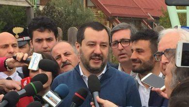 """Photo of Salvini visita l'area del cratere: """"I giovani scappano dal Molise. Attenzione a questa terra anche dopo le elezioni"""""""