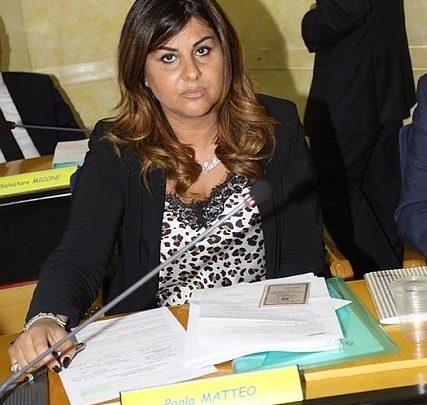 La consigliera regionale Paola Matteo