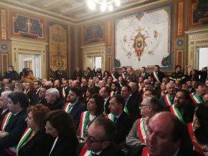 I sindaci presenti all'incontro con Conte