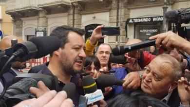 """Photo of Verso il ballottaggio, nessun bagno di folla per Salvini. Il vicepremier in città per benedire di nuovo la D'Alessandro. """"Noi come San Giorgio: pronti a sconfiggere il drago"""""""