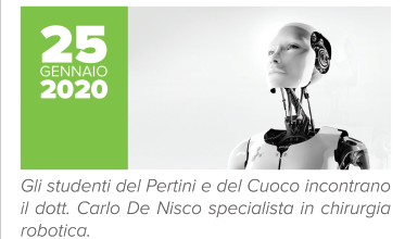 Photo of Robotica e chirurgia del futuro al centro dell'evento promosso dall'Istituto Pertini-Montini-Cuoco. Gli ellievi incontrano Carlo De Nisco