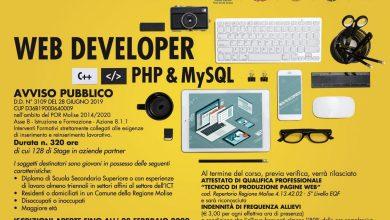 Photo of Corsi a catalogo e nuove professioni digitali: c'è tempo fino all'8 febbraio per diventare Web developer