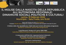 """Photo of """"Il Molise dalla nascita della Repubblica all'autonomia regionale: dinamiche sociali, politiche e culturali"""", a Larino omaggio a Luigi Biscardi"""