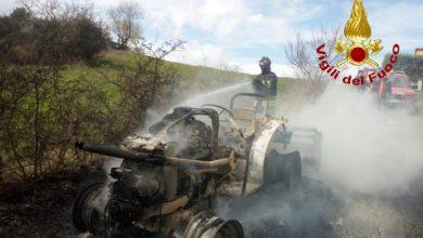 Photo of Castropignano, trattore distrutto dalle fiamme