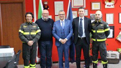 Photo of Il Questore Conticchio visita il Comando dei Vigili del Fuoco