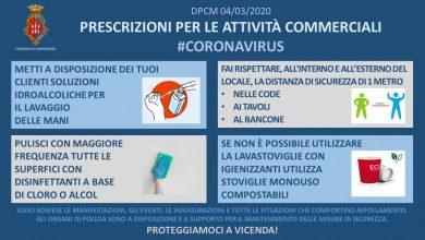 Photo of Coronavirus, le prescrizioni del Comune di Campobasso per le attività commerciali
