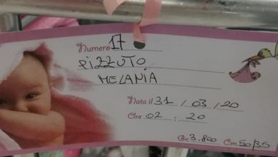 Photo of Fiocco rosa in casa Pizzuto: benvenuta Melania