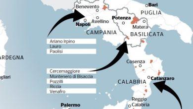 Photo of Le zone rosse del Molise si trasferiscono in Basilicata. L'errore geografico in una mappa sulle pagine del Corriere della Sera