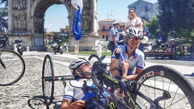 Photo of Obiettivo3 Staffetta Tricolore, l'atleta paralimpico molisano Antonello Pizzi da Campobasso a Benevento sotto lo sguardo della moglie di Alex Zanardi
