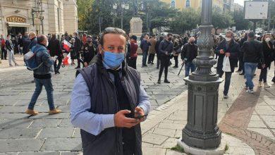 """Photo of Protesta in Piazza Pepe, Pascale (Lega): """"Senza un passo indietro tanti licenziamenti. Scontata l'assenza del PD, forza di governo coi 5 Stelle"""""""