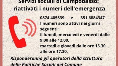 Photo of Campobasso, riattivati i numeri di emergenza Covid dei Servizi sociali