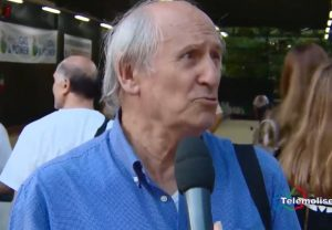 Giancarlo Barbieri durante un'intervista di Telemolise