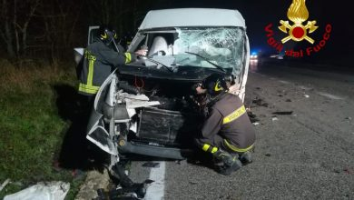 Photo of Incidente frontale tra un auto e un furgone ieri, in agro di Vinchiaturo al km 121.500 della SS87